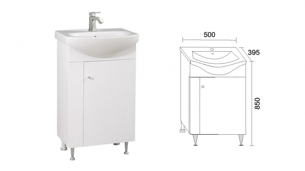Комплект за баня Стела Долен шкаф за баня Стела