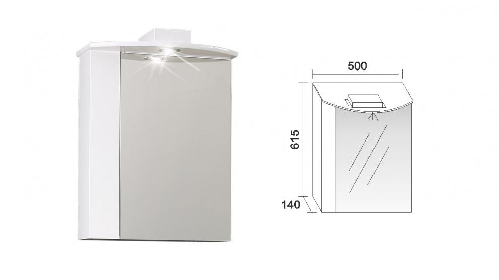 Комплект за баня Стела Горен шкаф за баня Стела