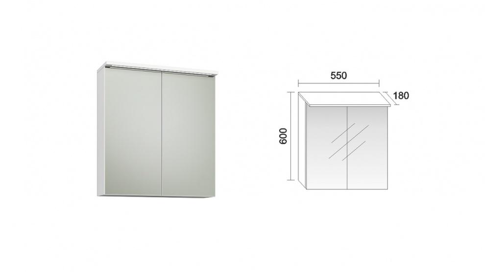 Комплект за баня Стайл Горен шкаф  за баня Стайл