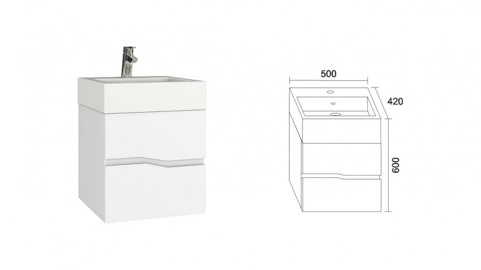 Комплект за баня Томи Долен шкаф за баня Томи