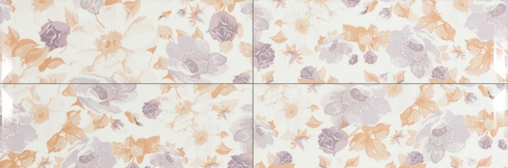 Vintage 20x60 Декор Vintage Bouquet Marfil Violet 20x60