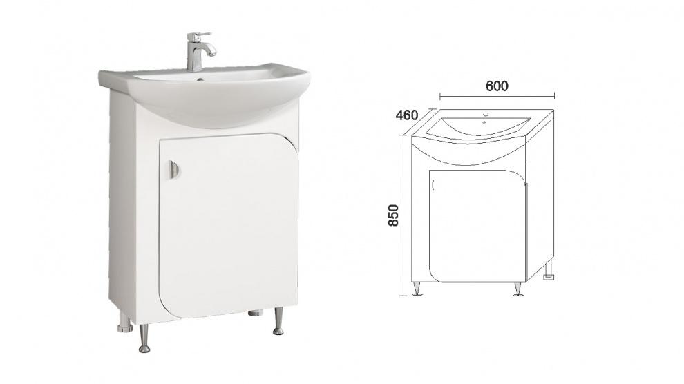 Комплект за баня Вито Долен шкаф за баня Вито