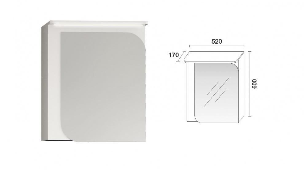 Комплект за баня Вито Горен шкаф за баня Вито